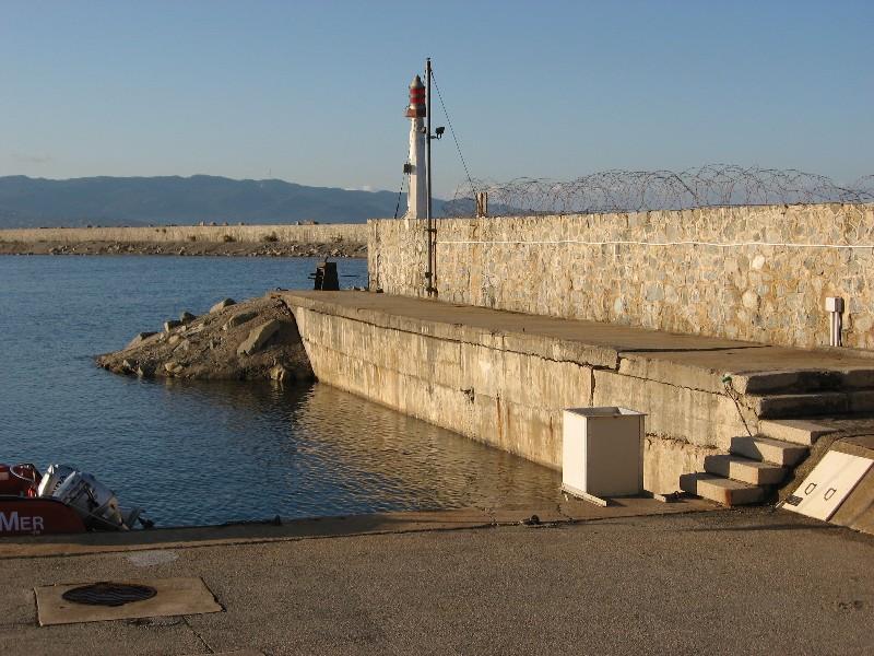 Vue du marégraphe d'Ajaccio (crédits SHOM)