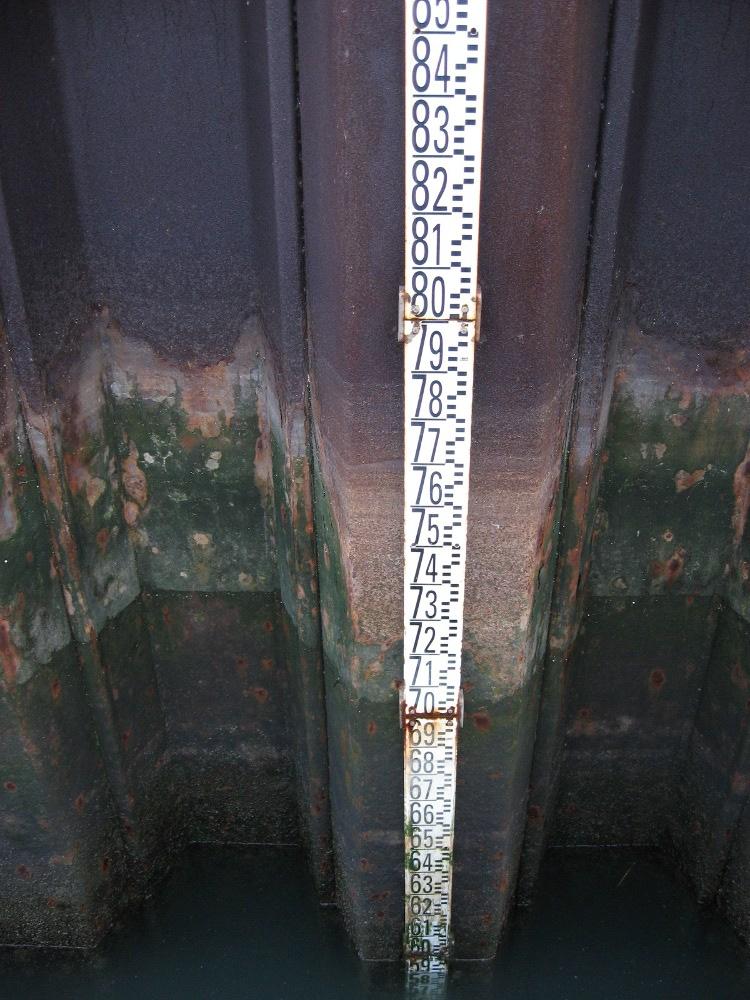 échelle de marée (crédits SHOM, 2009)