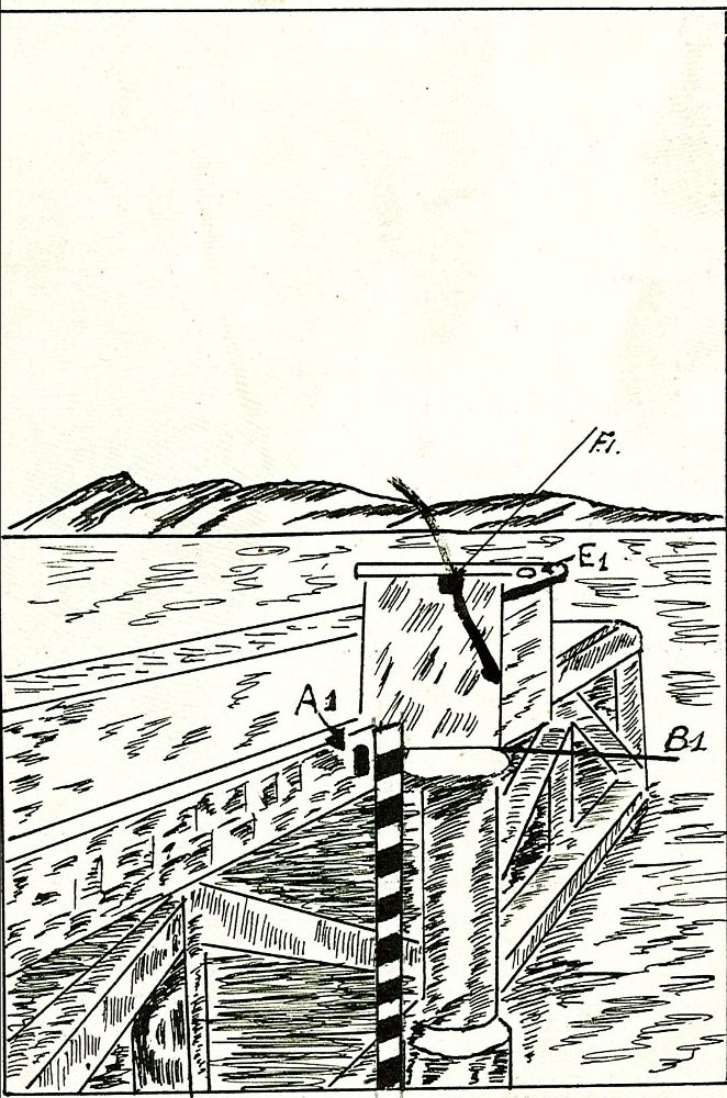 Schéma du marégraphe de Nouméa Chaleix (crédits SHOM, 1991)