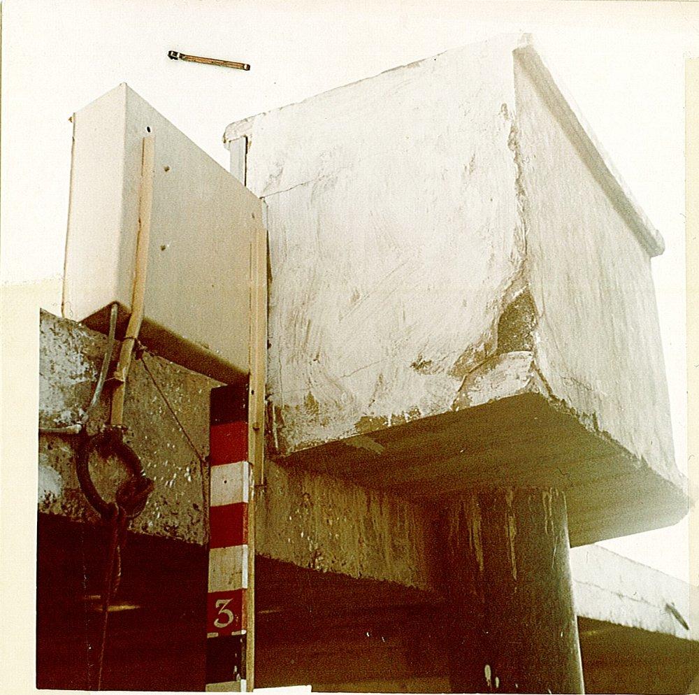Observatoire marégraphique de Chaleix (crédits SHOM, 1991)