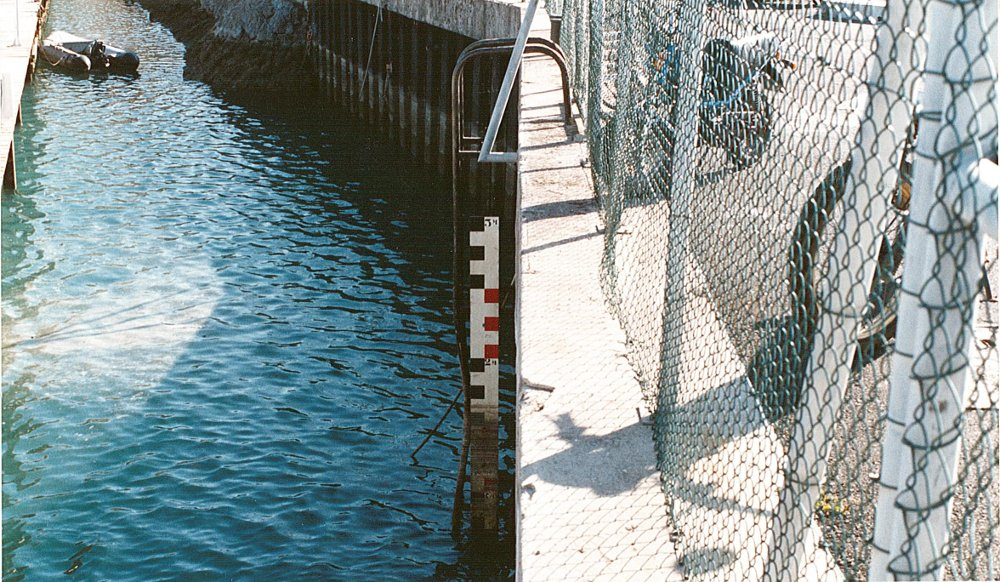 Échelle de marée (crédits SHOM, 1991)