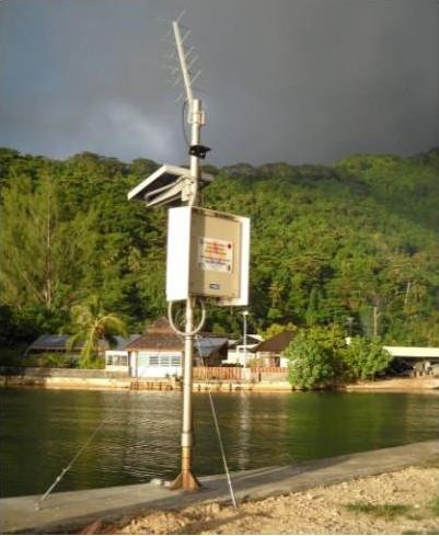 Observatoire de marée de Huahine (crédits SHOM, 2010)