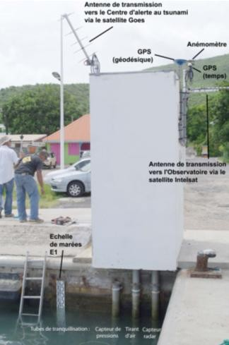 Observatoire de La Désirade et description (crédits IPGP, 2010)