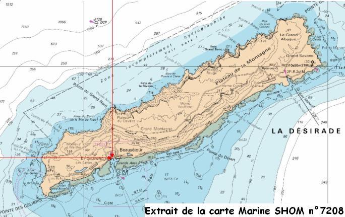 Localisation (copyright SHOM, reproduction interdite, ne pas utiliser pour la navigation)