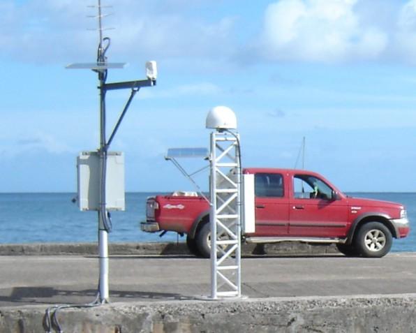 Marégraphe et GPS, Nuku Hiva (SHOM, 2009)