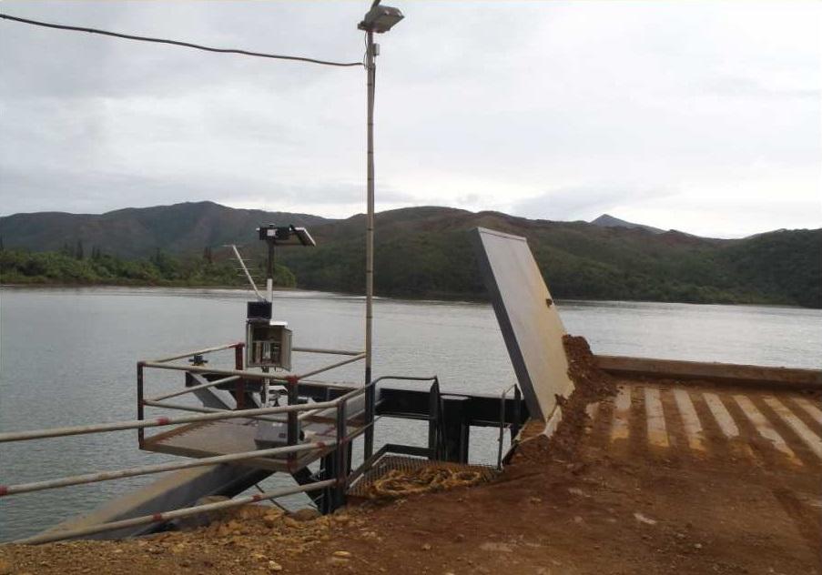 Observatoire de Ouinné après remise en fonctionnement (Crédits SHOM, 2014)