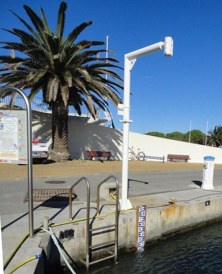 Observatoire marégraphique Port-Camargue (Crédits Capitainerie Port-Camargue, octobre 2012)