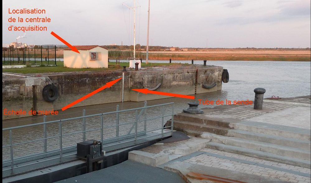 Quai Est de l'observatoire de Rochefort (crédits SHOM, 2011)