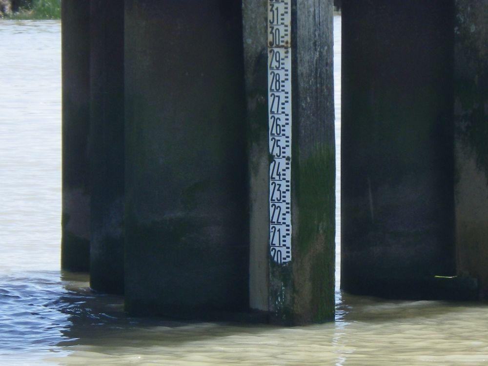 Echelle de marée (Crédits LIENSs, T. Coulombier, avril 2013)