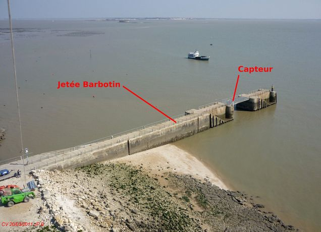 Telemetry radar - Barbotin jetty, Ile d'Aix (funding SHOM, 2011)