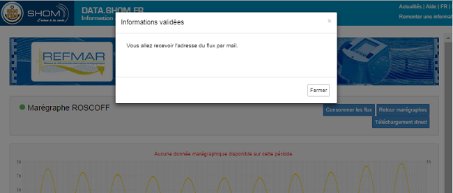 Screenshot from the non-final version of the tidal data download page on data.shom.fr