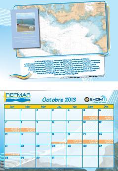 Calendrier REFMAR - Octobre 2013 : Définition du zéro hydrographique ou zéro des cartes marines