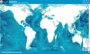Cartographie des marégraphes REFMAR disponibles à la visualisation ou au téléchargement sur data.shom.fr