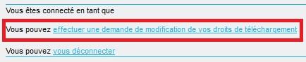 Modification de compte - extrait de la page d'accueil du portail REFMAR