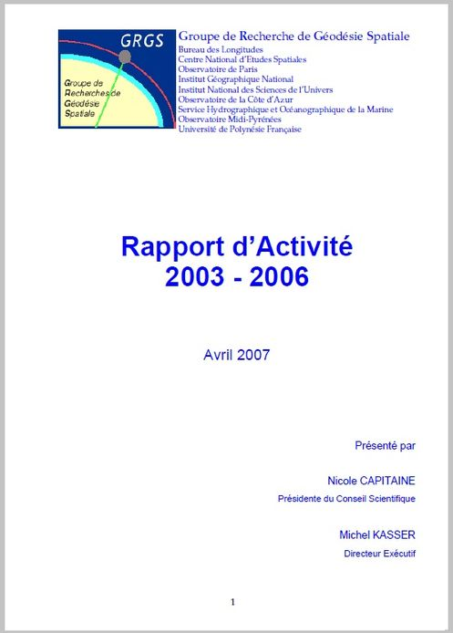 Rapport annuel GRGS 2006