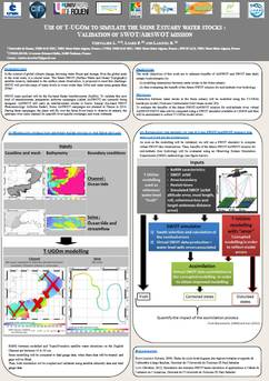L. Chevalier & al. Use of T-UGOm to simulate the Seine Estuary water stocks: validation of  SWOT/AirSWOT mission