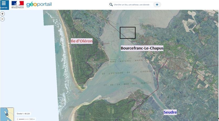 Localisation de la zone d'étude (Source Géoportail)