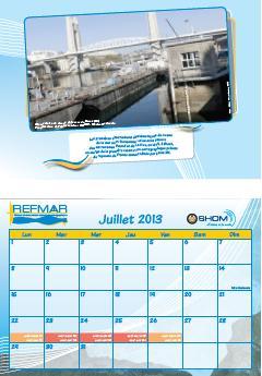 Calendrier REFMAR - Juillet 2013