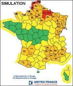 Simulation carte vigilance meteo france