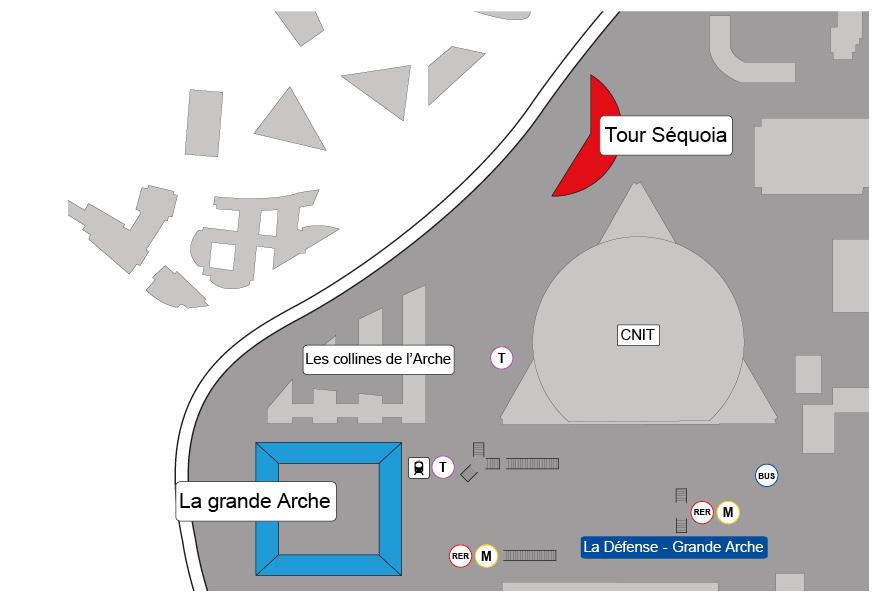 Plan de localisation Paris - La Défense