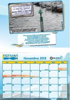 Calendrier REFMAR - Novembre 2013 : Quelques éléments sur le zéro des échelles de marée