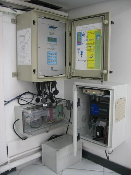 Centrales pour l'observation du Crouesty (crédits SHOM, 2010)