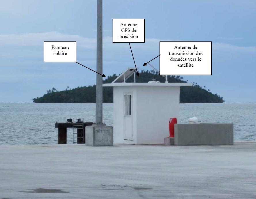 Observatoire marégraphique Mata Utu - vue générale (Crédits SHOM, mai 2014)