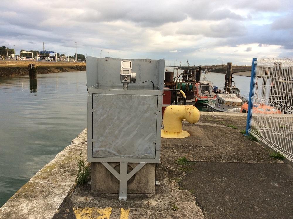 Observatoire niveau mer Ouistreham. Crédits SHOM Christian Kervella, septembre 2016