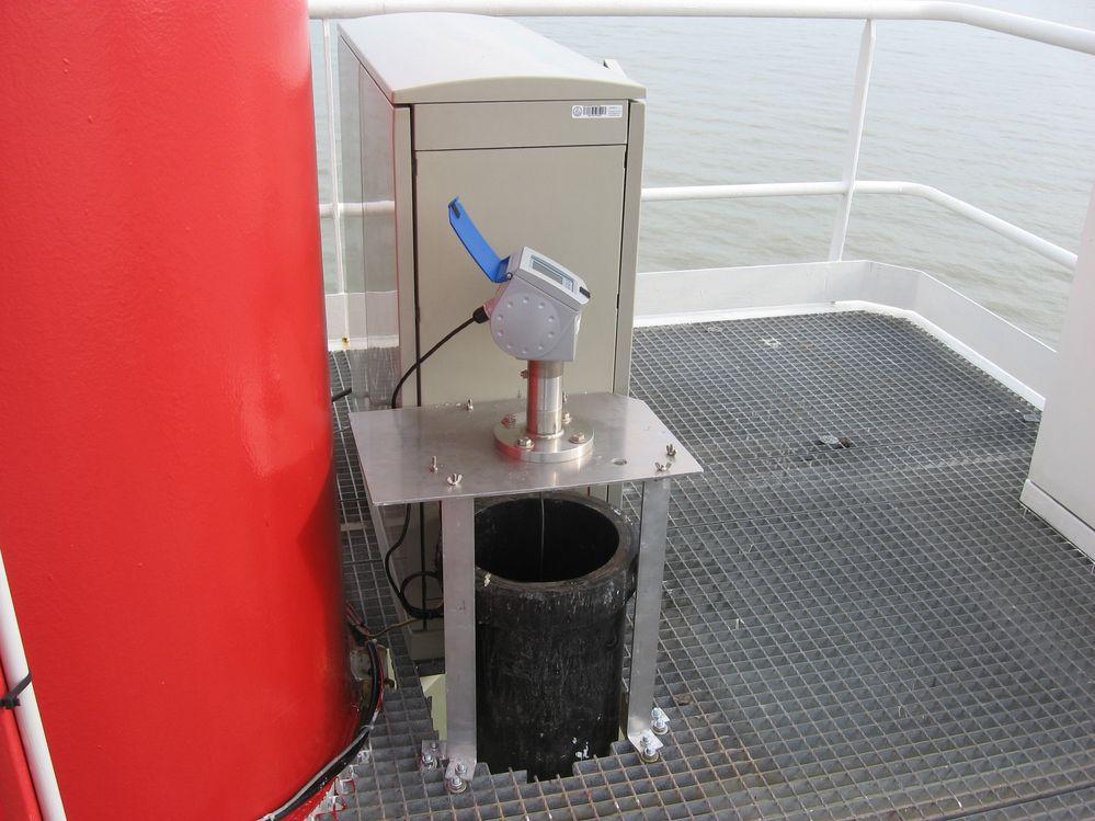 Télémètre radar Optiflex (crédits SHOM, 2010)