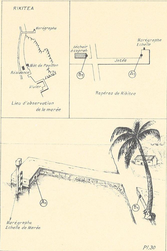 Croquis de l'observatoire de RIkitea (crédits SHOM)