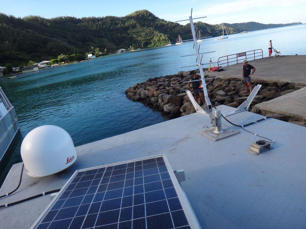 Observatoire marégraphique de Rikitea_Wharf vue du toit (Crédits SHOM, mars 2012)